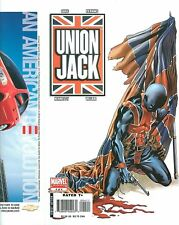 Union Jack #4 COVER PROOF Mike Perkins Gun, Blood & Flag MARVEL PRODUCTION ART