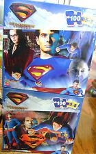 "2 SUPERMAN RETURNS 100 PIECE PUZZLE 5-8 YRS 16.5"" X 11.25' *NEW*"