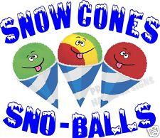 Snow Cones Sno Balls Decal 14 Sno Shaved Ice Concession Cart Food Truck Vinyl