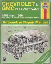 CHEVROLET GMC 230 250 292 6CYL 262 V6 283 305 307 350 400 V8 69-96 REPAIR MANUAL