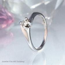 Anello in 750/- Oro Bianco - 1 Diamante circa 0,15 CT. W/VSI