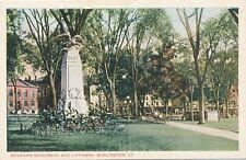 BURLINGTON VT – Soldiers Monument and City Park