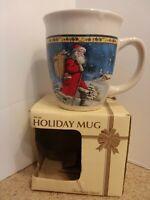 Royal Norfolk Old World Santa 14oz Coffee Beverage Christmas Holiday Mug  NIB