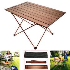 Folding Camping Table Portable Picnic Outdoor Garden BBQ Aluminum Dining Desk-AU