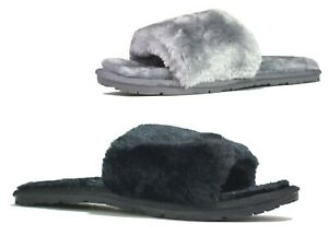 LADIES WOMENS NEW BEDROOM HOUSE WINTER WARM FAUX FUR LINED SLIPPERS UK SIZE 4-13
