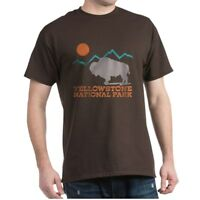 CafePress Yellowstone National Park Dark T Shirt 100% Cotton T-Shirt (572351412)