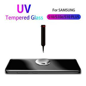 Liquid Screen Protector For Samsung Note10 S9 S10 Full UV Glue Tempered Glass Vi