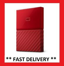 NEW 4TB WD My Passport Portable Hard Disk Drive Red Backup Storage External HDD