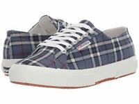 Superga Women's 2750 Howard Plaid Canvas Lace Up Sneakers - Blue