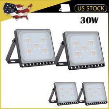 4 x 30W LED Flood Light Outdoor Ultra thin Spotlight Landscape Garden Warm White