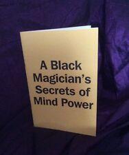 A BLACK MAGICIANS SECRETS OF MIND POWER Finbarr, Matthews DV, Occult, Magick