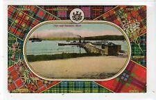 PADDLE STEAMER AT PIER, ROW: Dunbartonshire postcard (C16783)