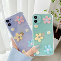 3D Flower Cute Clear Soft Case Cover For iPhone 12 Pro Max 11 XR XS X 8 7 Plus 6