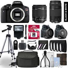 Canon Rebel T6i SLR Camera 4 Lens Kit 18-55 + 75-300mm  + 64GB Accessory Bundle