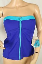 ab22a30d0c Tommy Bahama Womens Tankini Blue Bandeau Cup Bandini Only Deck Piping M