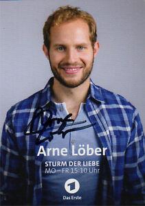 Arne Löber - Sturm der Liebe - ARD - Autogrammkarte