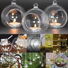 6x Crystal Glass Christmas Hanging Candle Tea Light Holders Wedding Decor 10cm 6pcs
