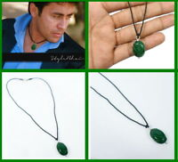 "Hand Carved 100% Natural Emerald Fashion Necklace For Decent Look 18"" Long"