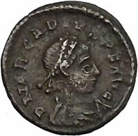 ARCADIUS 383AD Ancient Genuine Roman Coin Wreath of success   i45693