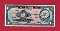 """MEXICO UNC 10 Pesos 1963 (04/24/1963) SERIES: """"AIP"""" - (Pick-54j.4) PRINTER: ABNC"""