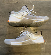 Nike Free Metcon 2 Men's SZ 10 Shoes Cool Grey/Pure Platinum - Neon Orange Heel