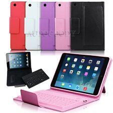 Bluetooth Keyboard Wireless Folio Leather Case for iPad Mini 1 2 3 Wake Sleep
