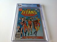 NEW TEEN TITANS 9 CGC 9.6 WHITE PAGES COOL PUPPET COVER RAVEN DC COMICS