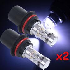 2X 9004 100W White Fog Driving Running Light 20LED Bulbs Headlight High Power HS