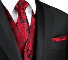 Men's APPLE PAISLEY FORMAL TUXEDO VEST, TIE & HANKIE SET. Wedding, Prom, Cruise