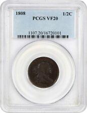1808 1/2c PCGS VF20 - Draped Bust Half Cents (1800-1808) - Sharp!