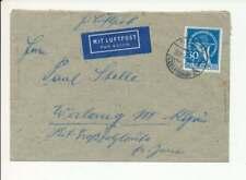 Berlin Nr. 70 EF auf Luftpostbrief BERLIN ZEHLENDORF 23.12.49 n. WERLANG (60258)