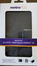 Metro PCS Alcatel Onetouch Fierce XL folio wallet with wristlet
