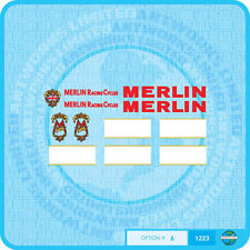 Merlin Racing Cycles (UK) Bicycle Decals Transfers Stickers - Set 6