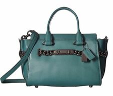 Coach Swagger 27 Glovetanned Leather Satchel Dark Turquoise 12119 NWT