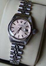 Genuine Rolex Oyster Perpetual Ladies Date 6517 Stainless Steel Watch VGC Luxury