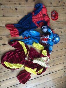 Bundle Of Kids Costumes Spiderman Captain America King 3-5 3-4 4-5 Y