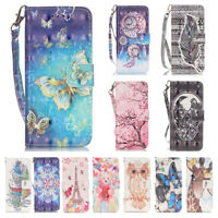 UK Stock Flip PU Leather Wallet Card Pockets Case Cover For Samsung Galaxy Phone