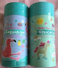 SEW YOUR OWN UNICORN AND FLAMINGO SEWING KITS ,ALL CONTENTS IN SEALED CONTAINERS