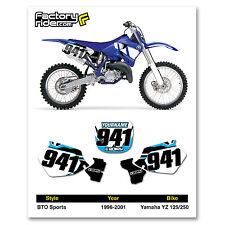 1996-2001 YAMAHA YZ 125-250 BTO Dirt Bike Graphics Custom Number Plates