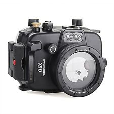 Meikon Underwater 40m/130ft Waterproof Case for Canon G5x Camera Diving Housing