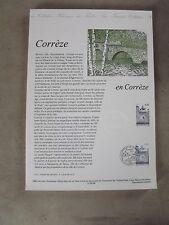 Collection Historique Timbre Poste 1er Jour : 3/06/95 -CORREZE