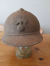 More details for ww1 helmet french adrian 3 piece constuction infantry badge. sound relic.