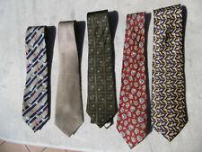 Lot de 4 Cravates 100% soie Ted Lapidus, Artésie... Made in France comme Neuves