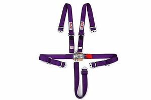 "Nascar Harness 5-Point 2"" NINJA SFI Approved Racing Seat Belt Buckle - PURPLE"