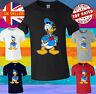 Donald Duck Cartoon Cute Men Women Unisex T-shirt Vest Top 3834