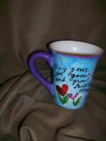 *CHIPPED* JULIA JUNKIN CERTIFIED INTERNATIONAL HAPPY ANNIVERSARY MUG
