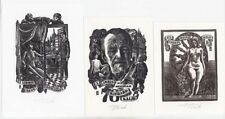 EROTICA Act Set 3 Original Ex-Librises Bookplates by Henno Arrak ESTONIA 1981-90