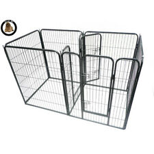 Ellie-Bo 2 Door Heavy Duty 7 Piece Puppy Dog Enclosure Whelping Pen 100cm High