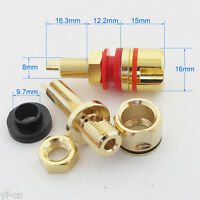 4pcs High Quality Gold Plated Copper Amplifier Speaker Terminal Binding Post