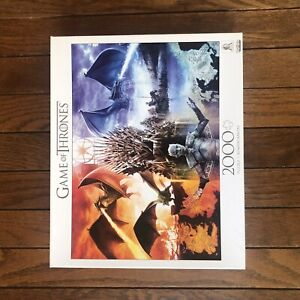 Buffalo Games GAME OF THRONES: FIRE AND ICE HBO licensed 2000 piece puzzle